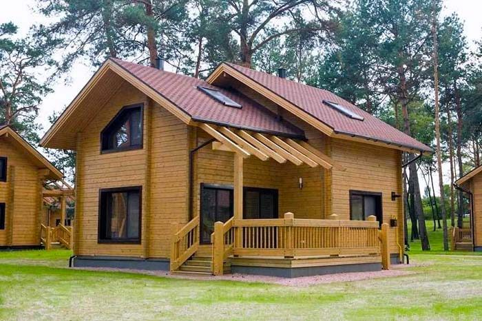 150 m² Dubleks Kütük Ev