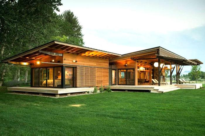 110 m² Modern Ahşap Ev