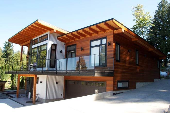 100 m² Modern Ahşap Ev